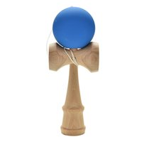 Wholesale japanese toys for kids resale online - 1pcs Professional Rubber Paint Kendama Matte Ball Kid Kendama Japanese Traditional Toy Wooden Ball Skillful Toy for Children
