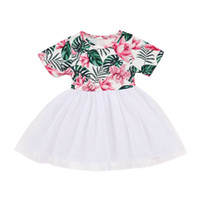 шифон платье для малышей оптовых-ARLONEET Clothes Toddler Baby girl short sleeve Striped chiffon dress princess party dresse for children girls summer outfits