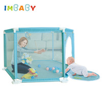 IMBABY Playpen For Newborn Safety Barriers Baby Tent for Kids Ball Pool Piscine a Balle 0-36 Months Children Fun Kids