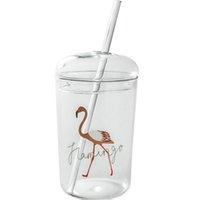grandes pérolas de vidro venda por atacado-Criativa Estrela Pyro Água e copo de vidro de palha Grande Capacidade Pérola Leite Suco chá copo com tampa