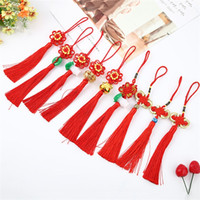 Wholesale manual knot resale online - Chinese Knot Craft Supplies Bright Red Car Hanging Ornaments High Jubilation Grade Pendant Manual Weave Spring Festival xxC1