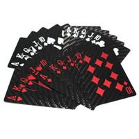 spielkarten im freien großhandel-Hochwertige Outdoor Camping Freizeit Sport wasserdichte tragbare Tour Carbon Poker Universal Spielkarte personalisierte Weihnachtsgeschenke