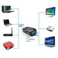 projetor conversor portátil venda por atacado-1080 p hdmi para vga adaptador conversor de cabo de áudio macho para fêmea suporte hd 1080 p para xbox360 ps3 ps4 pc portátil caixa de tv projetor