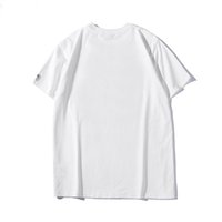черные белые рубашки оптовых-Новая смешанная печать Мужские футболки черный, белый и синий S-XXL в 2019 году