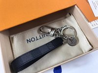 Wholesale stainless steel plant resale online - Luxury Designer Handmade PU Leather Car Keychain Women Bag Charm Pendant Keyring Accessories with gift box
