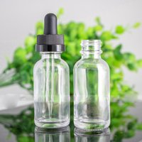 Wholesale empty e juice bottles ml resale online - Empty E juice ml Clear Glass Essential Oil Bottles With ChildProof Cap And Glass Pipette Ecig Liquid Bottles ml For Sale