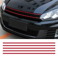 Wholesale car decorations material for sale - Group buy Front Hood Grille Decals Car Strip Sticker Decoration for VW Golf Tiguan asy to stick and remove stickers car