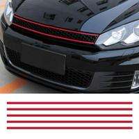 araba davlumbazları toptan satış-Ön Kaput Grille Çıkartmaları Araba Şerit Sticker Dekorasyon VW Golf 6 7 için Tiguan asy sopa ve çıkartmalar araba kaldırmak