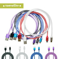 Wholesale huawei shipping resale online - Micro USB Cable V8 Type C M M M Fish net mesh Fabric braided Data Sync Cable For Android HTC Samsung LG Huawei xiaomi