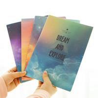 notebook mädchen großhandel-Fantastisches Notizbuch-Tagebuch-Buch-Übungs-Zusammensetzungs-Notizblock Escolar Papelaria-Geschenk-Briefpapier des Galaxie-Stern-Himmel-B5 für Mädchen