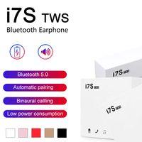 auriculares inalámbricos universales al por mayor-I7 i7s TWS Bluetooth Auriculares gemelos Auriculares Mini auricular inalámbrico auriculares con micrófono estéreo V5.0 para el teléfono Android con el paquete al por menor