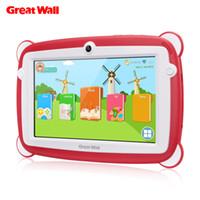 comprimidos de rockchip venda por atacado-Great Wall K701 Criança Educação Tablets PC 7 '' 1024 * 600 IPS Android 8.1 IPS RK3126C Quad-core 1 GB 8 GB Dual Cam WIFI BT Tablets