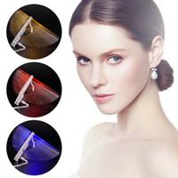 красота лицо привело световой терапии оптовых-Оптовая новое изобретение 3 Цвет LED свет терапия маска для лица инструмент красоты лица спа-лечение устройство анти акне морщин удаление