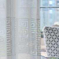 tecido de cortina jacquard venda por atacado-Modern Simple White Jacquard New Tulle cortina para Sheer tecido macio Sala Quarto Janela Tela de luxo oca-out Curtain