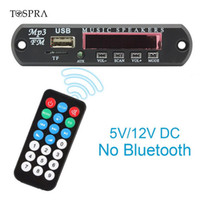 Wholesale usb player module resale online - TOSPRA MP3 Player With SD Card Slot USB FM V V Audio Module Remote Music Speaker Decoding Board USB TF FM Radio For Car