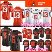 Wholesale cleveland browns jerseys online - Cleveland Odell Beckham Jr Browns  Jersey Baker Mayfield Myles Garrett be339c944