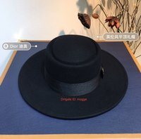 Wholesale large summer beach hats for sale - Group buy Wide Large Brim Straw Cap Summer Beach Women Lady Travel Floppy Sun Hat Foldable Wool Flat Top Hat