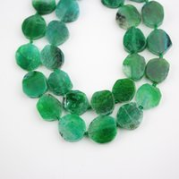 Wholesale agate slab beads resale online - Approx Green Dragon Veins Agates Slice Slabs Loose Beads Jewelry for Bracelet Pendants Crafts