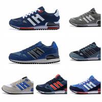 atletik ayakkabı tasarımcıları toptan satış-ZX750 Koşu Ayakkabı Tasarımcısı Sneakers zx 750 Mens Womens Beyaz Kırmızı Mavi Nefes Atletik Açık Spor Koşu Yürüyüş Ayakkabıları Boyutu 36-44