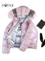 Wholesale coatings manufacturers resale online - FY024 Women Winter Jacket Stylish Bubble Down Coat Double Wear Manufacturer Young Design Down Jacket with Big Fox Fur Collar