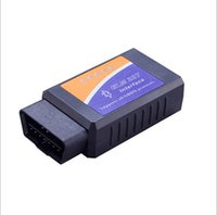wifi elm327 obd2 al por mayor-HOT ELM327 obd2 obd OBDII V2.1 Wifi Coche PIC 25k80 herramienta de escáner de diagnóstico Epistar Bluetooth Detector de Fallos de Coche