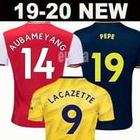 uniformes de futebol set men venda por atacado-Tailândia Arsenal camisa de futebol soccer jersey football shirt 19 20 AUBAMEYANG LACAZETTE 2019 2020 Camiseta Xhaka Özil kit de futebol camisa uniformes maillot de terceira