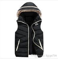 ingrosso marche eleganti di giacca casual-Commercio all'ingrosso - Uomini della maglia di marca NK Nuovo Autunno Inverno caldo elegante giacca senza maniche Army Gilet Men039; s Vest moda casual cappotti Mens Windp