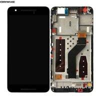 ingrosso telaio di visualizzazione nexus-ORIWHIZ Display LCD da 5,7 pollici per Huawei Nexus 6P con parti di riparazione per il montaggio del telaio nero