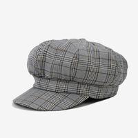 ingrosso cappello del pittore casual-DeePom Beret Hat Donna Plaid Newsboy Cap New Spring Cappelli per donna Boina Feminina England Painter Cap Casual Classic Vintage