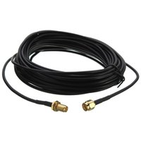 sma cable femenino al por mayor-jack hembra a macho estándar 9m RG174 RP-SMA macho a hembra cable coaxial MF Jack Conector Wifi extensión de la antena de cable conductor