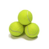 ingrosso gomma palla da tennis-Pallone da tennis standard da allenamento in gomma buona rimbalzo 1,3 metri tennis durevole che gioca palla al neon ufficiale pallina sportiva senza logo ZZA852