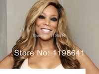 Wholesale african american fashion wigs resale online - Europen fashion Honey Blonde Brazilian Full Lace Human Hair Wigs African american Blonde loose curly Glueless Lace Front Wig density
