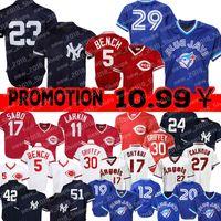 ingrosso barry larkin-23 Don Mattingly Yankees 29 Joe Carter Blue Jays 5 Johnny Bench Maglia Cincinnati Reds 11 Barry Larkin 12 Roberto Alomar 19 Jose Bautista Wi