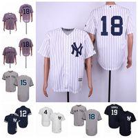 camisas da marinha venda por atacado-Nova Iorque Lou Gehrig Yankees Thurman Munson Wade Boggs Masahiro Tanaka Didi Gregorius Branco Cinza Marinha Cool Flex Camisas De Basebol