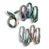 bohem saç takıları toptan satış-Bohemian Muz Yaprağı Bandı Retro Bez Elastik Çapraz Düğüm Bandı Kadın Moda Yaz Tatil Plaj Saç Takı Aksesuarları Toptan