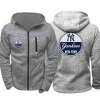 xxl hırka erkek toptan satış-New York hoodie Yankees Erkekler Spor Giyim erkek Kapüşonlu Hoodie Fermuar Kazak Erkek Hoody Sonbahar Bahar Hoodies Hırka Kazak Eşofman