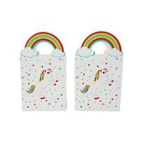 düğün kağıdı lehine çanta toptan satış-Unicorn Hediye Çanta Parti Malzemeleri Düğün Favor Şeker Çanta Kağıt Giff Parti Dekor Ambalaj Malzemeleri için Torbalar Torbalar