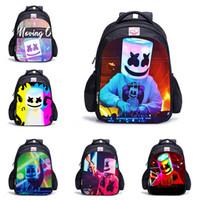 mochila escolar impermeable al por mayor-DJ Marshmello Impreso en 3D Mochila de diseño Pop Music School Bag Kids Action Book Bag Boys Girls Niños impermeables El mejor regalo