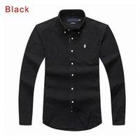ingrosso shirt in vendita-Nuove vendite costumi famosi fit Camicie casual Popolari campi da golf ricamati Polo da uomo Abbigliamento manica lunga