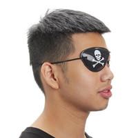 kostüm für erwachsene piraten großhandel-10Pcs Piraten Augenklappe Augenmaske eyeshade Abdeckung Plain für Erwachsene Lazy Eye Amblyopie Schädel-Augen-Flecken-Kostüm Halloween-Maske Props