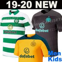 camisas amarelas pretas venda por atacado-Novo 2019 2020 Celtic futebol jerseys 19 20 em casa TIERNEY MCGREGOR BENKOVIC WEAH BURKE EDOUARD CHRISTIE GRIFFITH longe camisas de futebol preto
