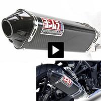 honda motocicleta tubos de escape venda por atacado-Motocicleta Yoshimura Escape Silenciador escape da motocicleta tubo de escape Echappement Motor Para Kawasaki Yamaha Honda KTM ninja250 R6