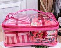ingrosso belle borse cosmetiche-Sacchi cosmetici Sacchi trucco per vacanza Collezione in edizione limitata Sacchi per collezione VS Fiori bellissimi 3 pezzi
