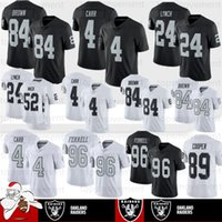 jersey 84 al por mayor-Oakland 84 Antonio Brown jerseys Raider 4 Derek Carr 96 Clelin Ferrell 24 Marshawn Lynch 75 larga 52 Khalil Mack 82 Nelson 89 Cooper