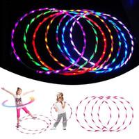 kinder hula hoops großhandel-90 cm Led Glow Hula Hoop Multicolor Hoop Spielzeug Lose Gewicht Spielzeug Kinder Kind Leuchten Spielzeug