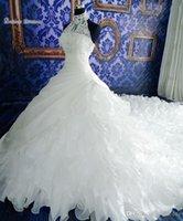Wholesale weding gown resale online - White Vintage Weding Dresses Lace Ball Gown Bridal Dress Lace Applique High Neck Sleeveless Backless Vestidos De Novia