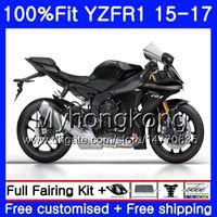 Wholesale frame for yamaha r1 resale online - Injection Bodys For YAMAHA YZF YZFR1 HM YZF R YZF R1 YZF1000 YZF R1 Flat black frame Fairing kit