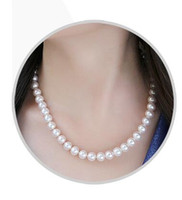 Wholesale Natural seawater South Sea Australia white pearl mother necklace round round flawless strong neck strap chain mm