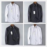 luxus männer s formale hemden großhandel-Großhandel 2019 luxus Neue Marke Frühling Herbst Casual Langarm Herrenhemd Hochwertige Baumwolle Formal Business Plaid Herrenhemden Plus Größe