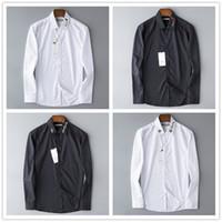 lüks erkekler resmi gömlekler toptan satış-Toptan 2019 lüks Yeni Marka İlkbahar Sonbahar Rahat Uzun Kollu Erkek Gömlek Yüksek Kalite Pamuk Örgün İş Ekose Erkek Gömlek Artı Boyutu